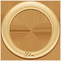 La Roue de Lilou plaqué-or (2,3 cm)