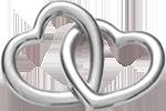 Accroche-coeur argent 925 1,8 cm