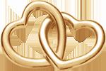 Accroche-coeur plaqué-or 1,8 cm