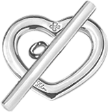 Coeur Amour Amour argent 925