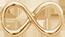 Infinité mini 1,4 cm plaqué or