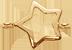 Etoile ajourée 1 cm plaqué or