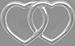 Coeurs entrelacés ajourés 1 cm argent