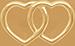 Coeurs entrelacés ajourés 1 cm plaqué or
