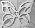 Papillon ajouré 2 cm argent