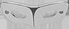 Masque 2 cm Argent
