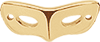 Masque 2 cm Plaqué or