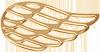 Aile ajourée 2 cm plaqué or