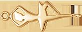 Ballerine plaquée or de 3cm pour la main