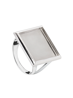 Bague rectangle Argent