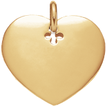 Coeur 2,7 cm plaqué-or