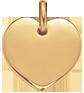 Coeur 1,5 cm doré