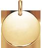 Médaillon 1,5 cm plaqué-or