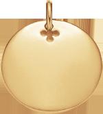 Médaillon 2,7 cm plaqué-or