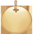 Médaillon 2 cm plaqué-or