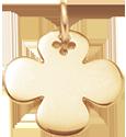 Trèfle rond 2 cm plaqué-or