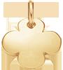 Trèfle rond 1,5 cm plaqué-or