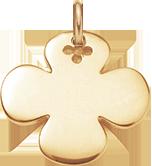 Trèfle rond 2,7 cm plaqué-or