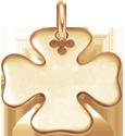 Trèfle 2 cm plaqué-or