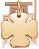Trèfle 1,5 cm plaqué-or