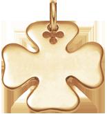 Trèfle 2,7 cm plaqué-or