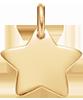 Etoile 1,5 cm plaqué-or