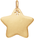 Etoile 2 cm plaqué-or
