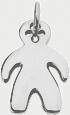 Pendentif garçon 2 cm argent 925