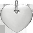 Coeur 2 cm argent 925