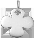 Trèfle rond 2 cm argent 925