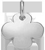 Trèfle rond 1,5 cm argent 925