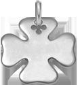 Trèfle 2 cm argent 925