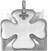 Trèfle 2,7 cm argent 925