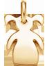 Fille 2 queues de cheval 1,5 cm plaqué-or