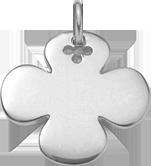 Trèfle rond 2,7 cm argent 925