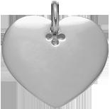 Coeur 2,7 cm argent 925