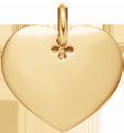 Coeur 2 cm plaqué-or