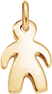 Pendentif garçon 1,5 cm plaqué-or