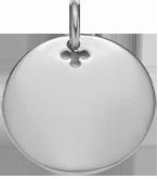 Médaillon 2,7 cm argent 925