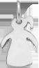 Fille 1 queue de cheval 1,5 cm argent 925