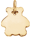 Ourson 2 cm plaqué-or