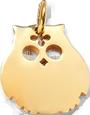 Chouette Colette 2 cm, plaqué-or
