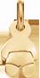 Poupon 1,3 cm plaqué or