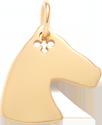Cheval Plaqué Or 2 cm