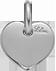 Cœur 1 cm Argent