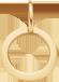 un médaillon de 1cm en or585