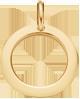 un médaillon de 1,5cm en or585