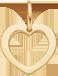 un cœur de 1cm en or585