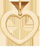 un cœur ajouré de 1,5cm en or 585