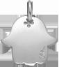 Main de Fatima 1,5 cm argent